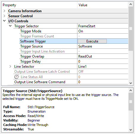 CVB with GenICam > Configuration > Use Cases > Trigger Configuration